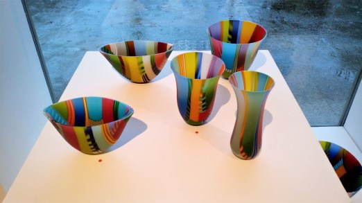 Colourful glass bowls