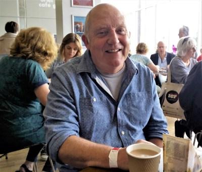 John Higgins: lunch in the Arts Centre, Aberystwyh