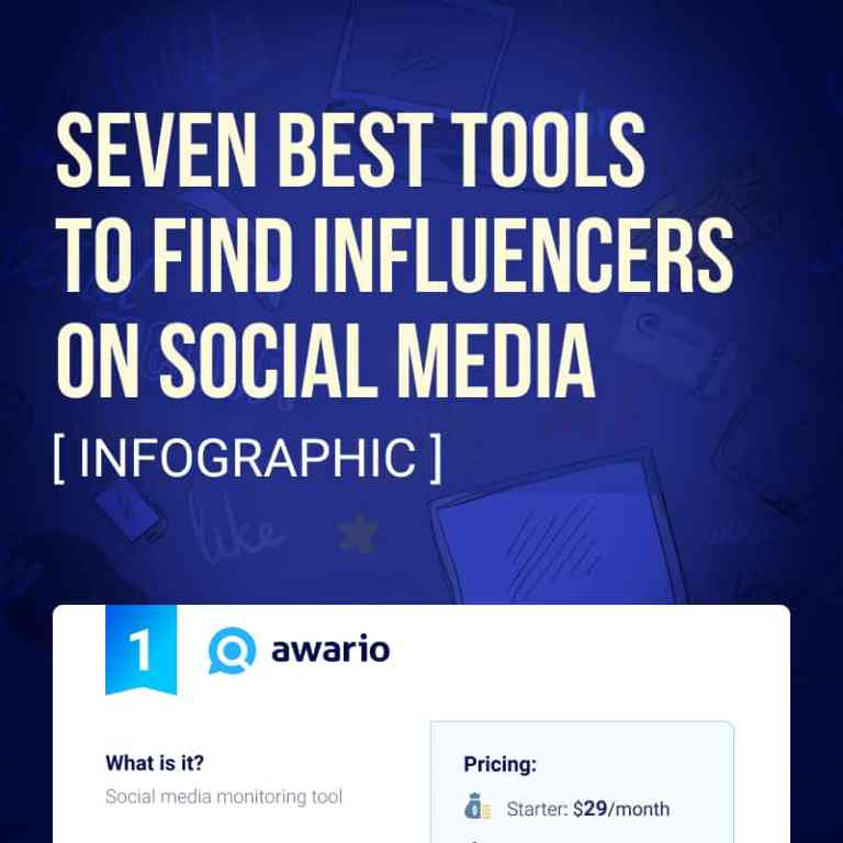 7 best tools for finding influencers on social media infographic