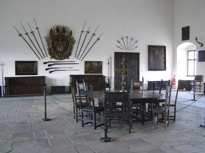 expozícia dobového bývania na hrade Červený kameň