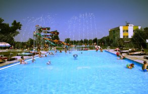 vonkajší termálny bazén - kúpalisko Patince