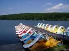 vodné bicykle - vodná atrakcia na nádrži Duchonka