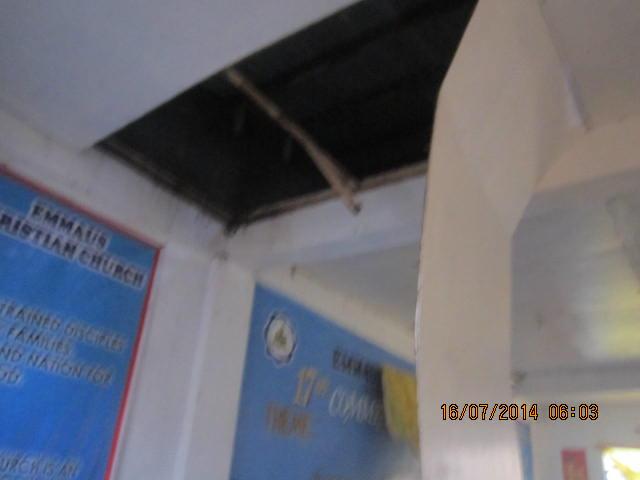 EBI church ceiling