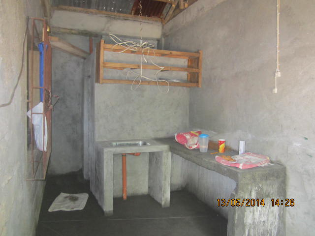 Inside of new room is a kitchen & CR