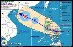Typhoon Glenda right before hitting Sorsogon