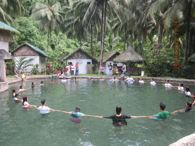 21 souls from Bulabog were baptized on Oct. 25h in a hot spring pool
