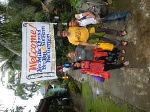 Welcome Sign at Emmaus Bible Institute in Sorsogon