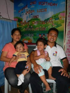 Pastor Redgie and Aireen Bonifacio, with daughter Aira Lois and baby David Chito (born last July 1, which was Pastor Chito's birthday).
