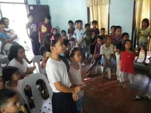 Kids in Donsul Church