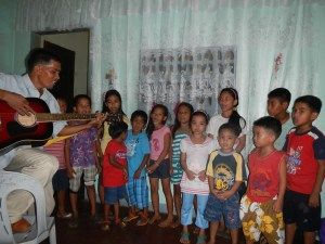 Kids of Donsul Church giving a special number with Pastor Abner