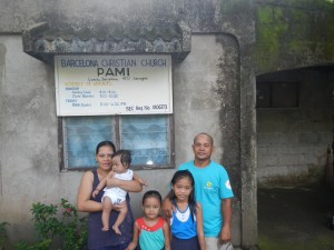Pastor Pio and Sister Juvy Garduque, with daughters Faith & Hope, and baby son Azariah Kiel