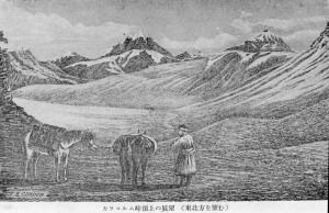 カラコルム峠頂上の展望(東北方を望む)