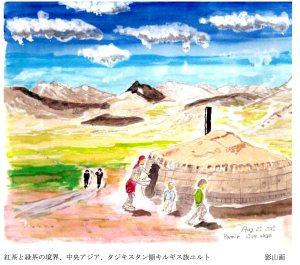 影山氏画キルギスのユルト001