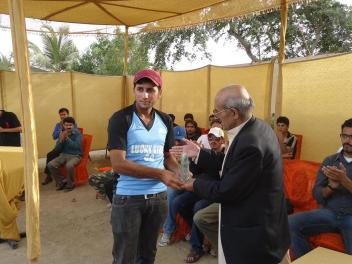 Man of the Tournament Sami from Shiskat
