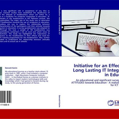 Darvesh Karim's book on IT integration in Education published