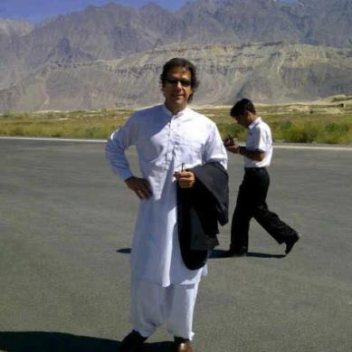 "Imran Khan lands in Skardu , claims ""all GB youth is PTI"""