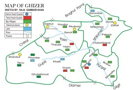 Administrative map of Ghizer: Source: TravelmyPakistan