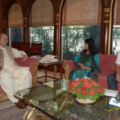 PM Nawaz Sharif announces 2.5mn rupees cash award for Samina Baig