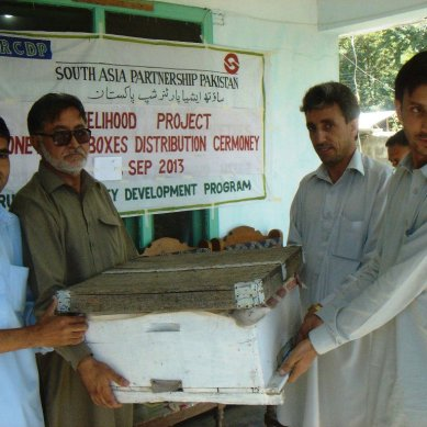 Boxes for Honey Bee farming distributed among youth groups in Chitral