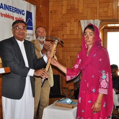 Mountaineering training concluded in Passu