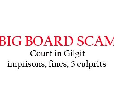 "Gilgit: Accountability Court sentences 5 people involved in ""Big Board"" scam"
