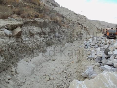 The old KKH still remains buried under hundreds of tonnes of silt. Photo: Javed Karim