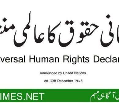 Declaration of Human Rights in Urdu