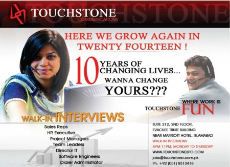 Jobs in Touch Stone