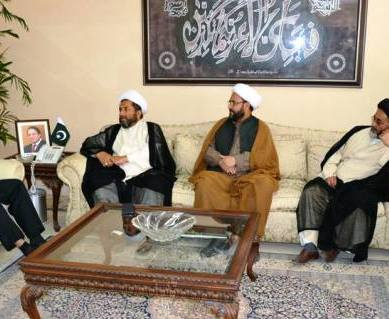 """""""We are not part of the protests"""", Shia Ulema Council delegation tells minister"""