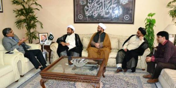 Islamabad: A delegation of Shia Ulema Council called on the federal minister at his office