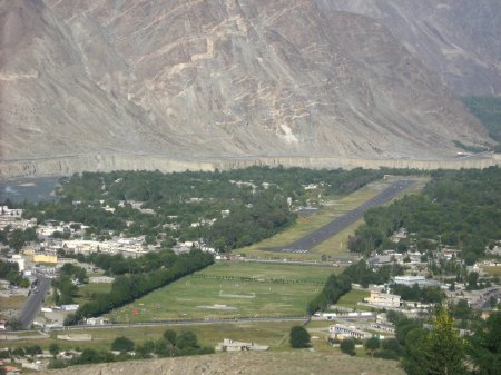 The Gilgit airport is not large enough, unlike the Skardu airport, to handle large planes. Expansion would enable better air travel services in the region. File Photo
