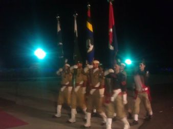 Flag carriers during the parade