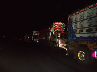Several dozens of trucks have been stuck in Gilgit and Skardu due to the sit-in