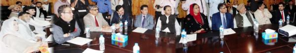 Gilgit: The visiting minister is being briefed about the impact of rains and flood induced disaster