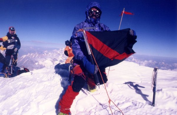 On the summit of G-2 (8035m)