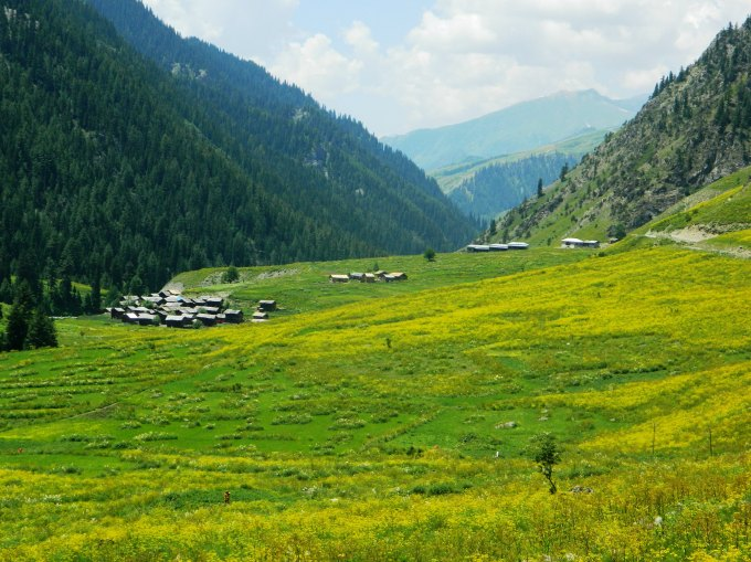 A small hamlet located at the age a slope in the Minimarg Valley