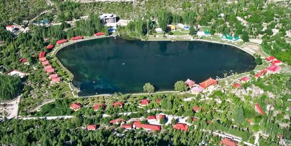 Aerial view of the Shangrila Lake Resort