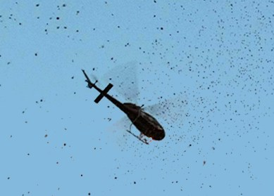 Chilas: Army chopper drops thousands of pamphlets seeking info about escaped prisoners