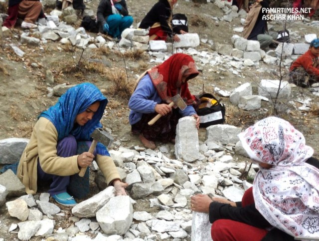 Women are increasingly playing a very active role in the economic life of the Hunza Valley