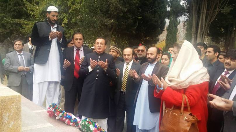 Mir Ghazanfar takes oath as the fifth governor of Gilgit-Baltistan, offers prayers at Yadgar-e-Shuhada