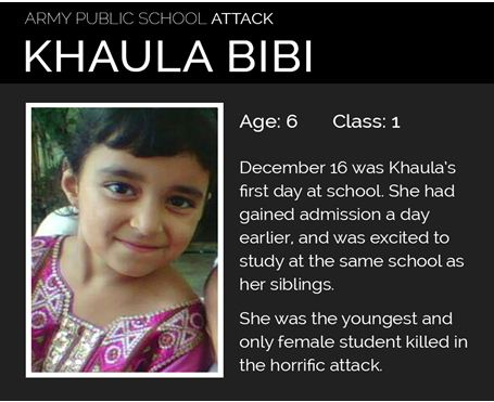 Three stages I saw shortly: The story of the youngest victim of Army Public School Peshawar