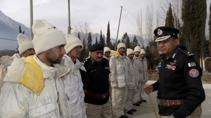 High altitude police unit deputed in Diamer for protection of foreign expeditions, tourists