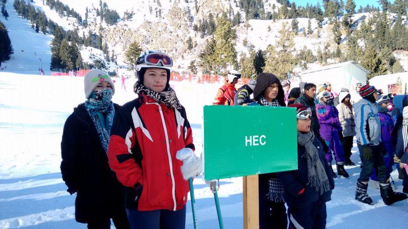 [Video] Saadia Khan and Children Ski Championship starts in Naltar, Gilgit