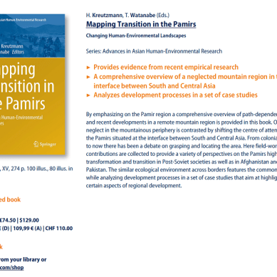 [Book] Mapping transition in the Pamirs. Changing human-environmental landscapes