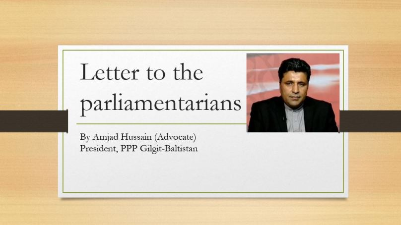 A letter to the parliamentarians
