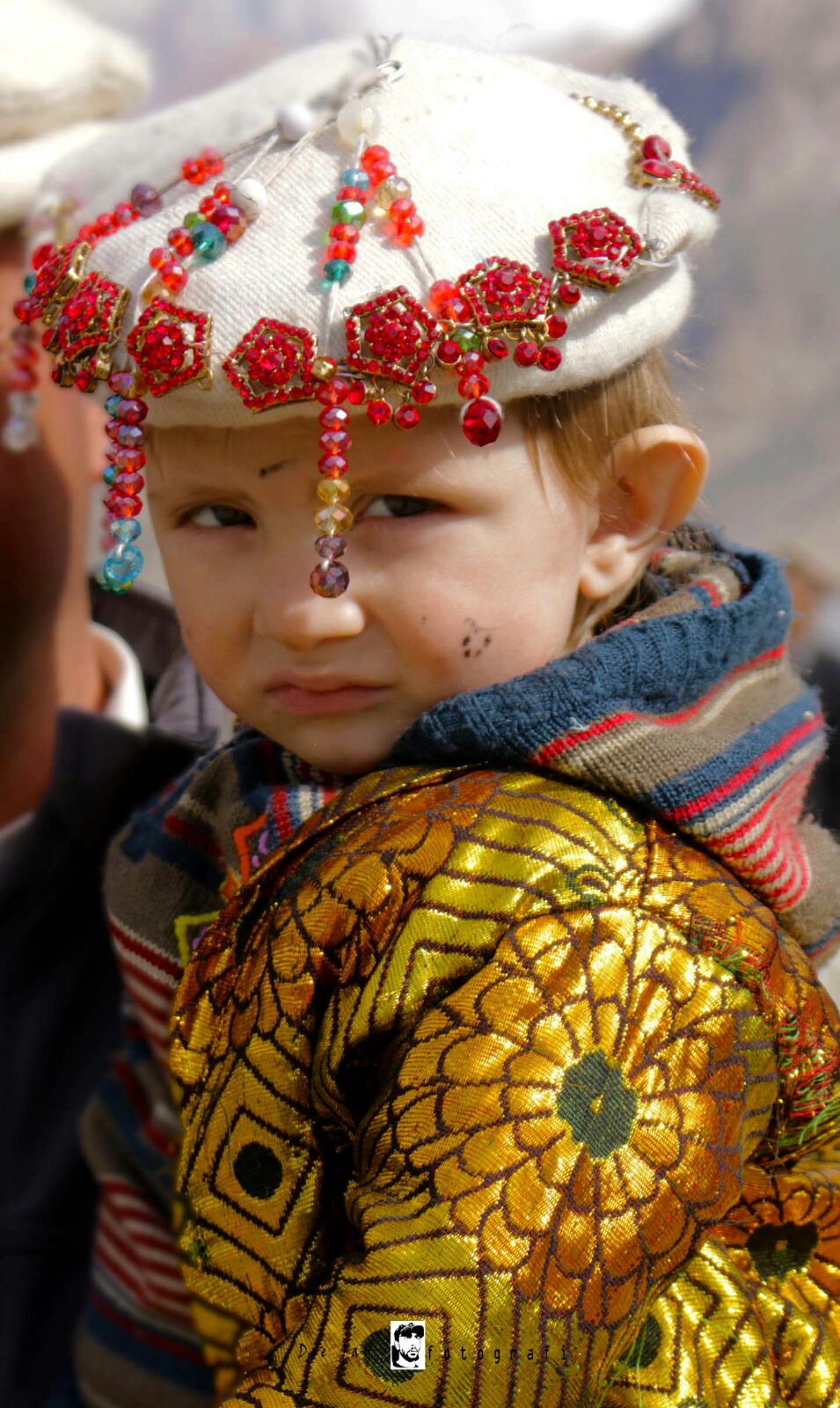 A cute child dressed for the occasion. Photo: Deedar Ali