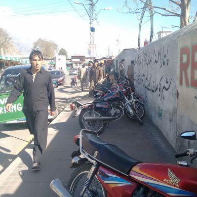 Pedestrians suffer in Gilgit due to illegal parking