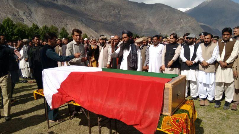 JKLF leader Amanullah Khan laid to rest in Gilgit