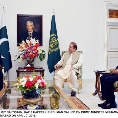 CM Hafeez calls on premier Nawaz Sharif