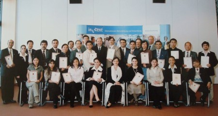 Recieving Certificate at Berlin after finishing one year long training